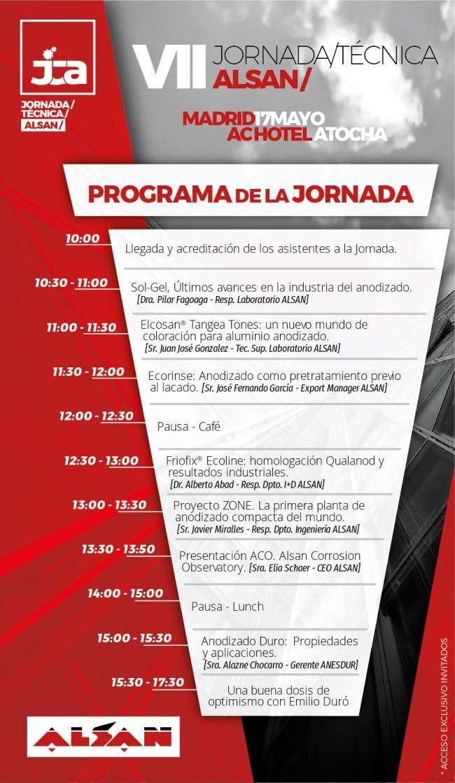 Programa VII Jornada Tecnica